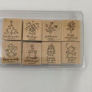 Stampin Up Greetings Galore 8 Piece Set